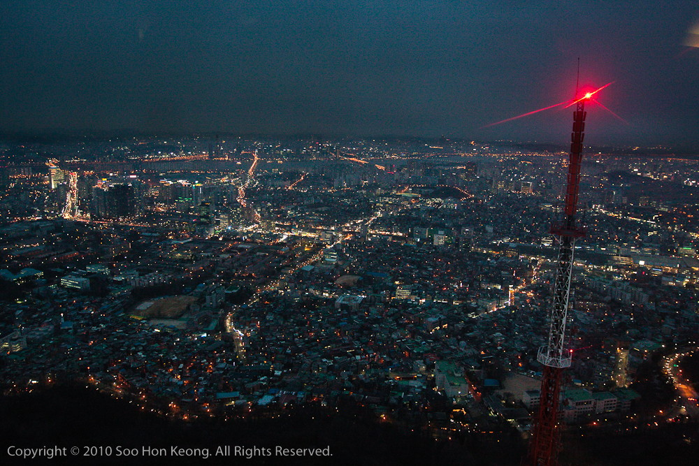 Night Scene @ N Seoul Tower, Seoul, Korea