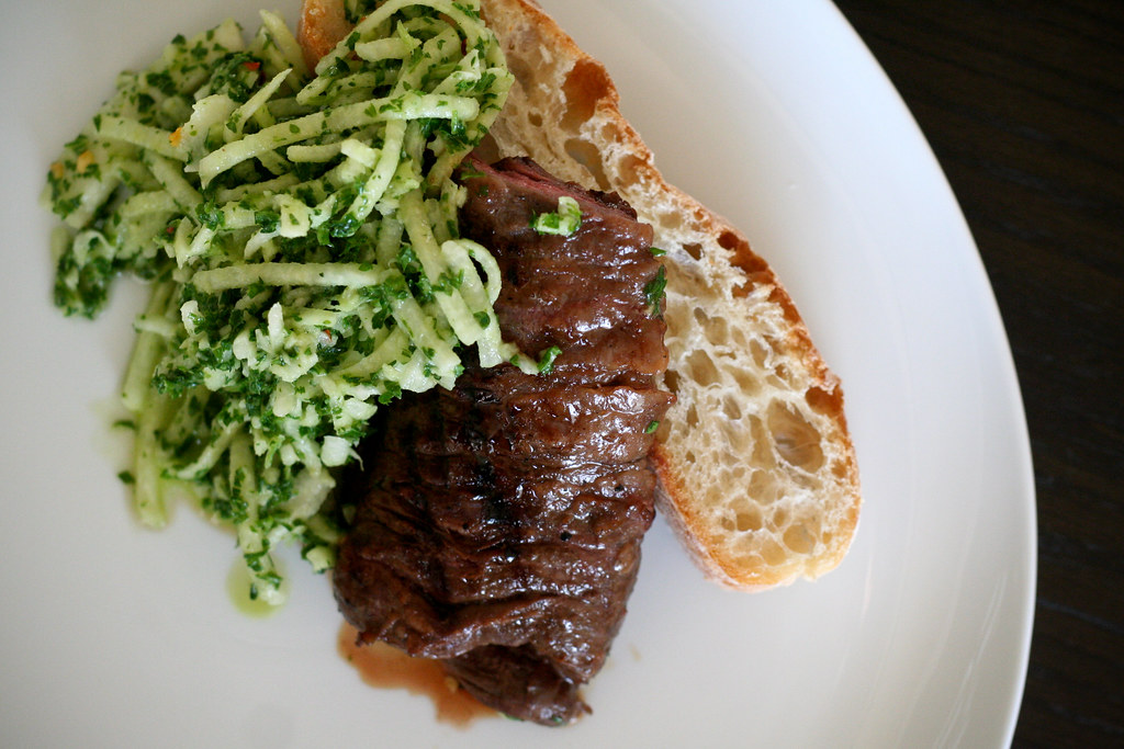 Skirt Steak with Chimichurri Jicama Slaw