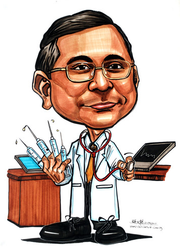Caricatures for NUS -medical geek