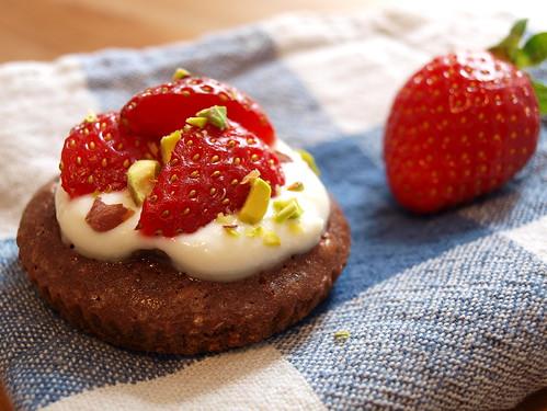Schokoladen-Erdbeer-Tartelette