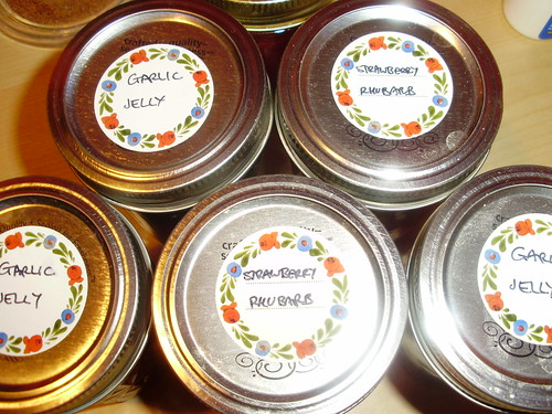 Garlic Jelly and Strawberry with Rhubarb