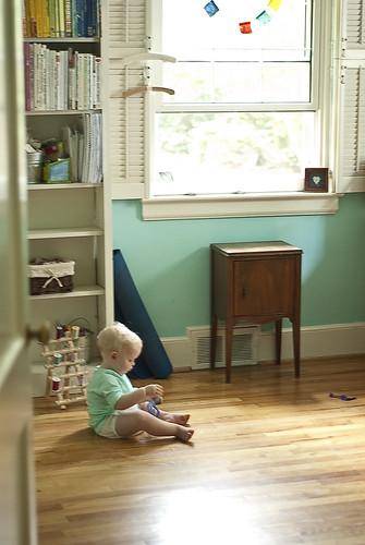 toddler in the studio