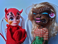 DIKKENS AND KIKI (Toypincher) Tags: toy chair doll devil collectable gobbler kamar dikkens kikithefashiontiki