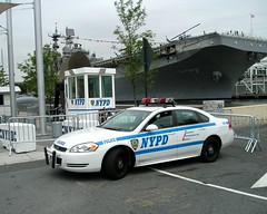 NYPD Police Security Checkpoint, Intrepid Museum Pier 86, New York City (jag9889) Tags: county city nyc blue ny newyork chevrolet car automobile cops traffic manhattan surveillance police nypd midtown company chevy transportation vehicle borough hudsonriver westside enforcement department lawenforcement finest 2010 checkpoint officers intrepidmuseum firstresponders 12avenue newyorkcitypolicedepartment pier86 y2010 jag9889