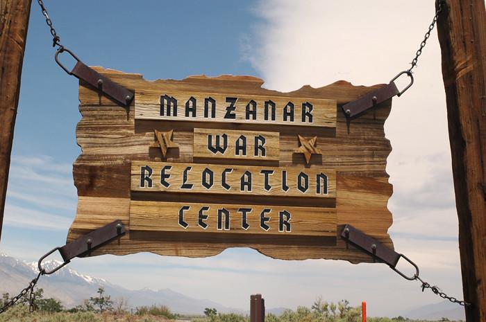 Manzanar Sign.