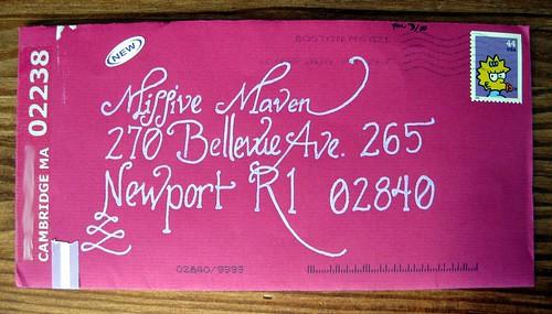 Dancing Lemur pink envelope
