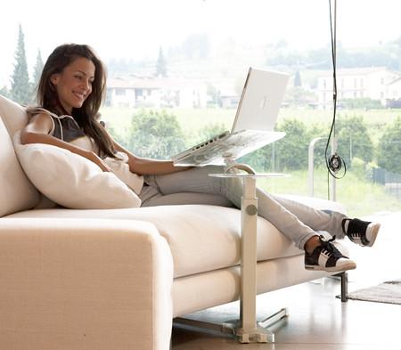 Laptop On Sofa Lounge Book Crystal White