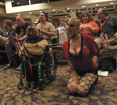 Star Trek Bondage (chris_wass) Tags: startrek costume cosplay wheelchair bondage bdsm klingon handicap comicon danidanger