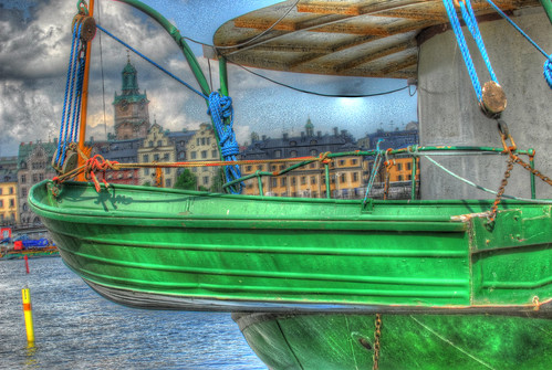 A Green Boat HDR