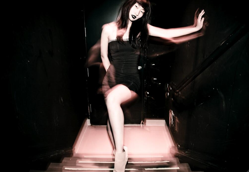 Natsuki Nakano OWL black strapless dress NYU ACE