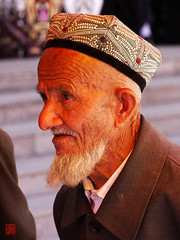 Alter Mann (sring77) Tags: china people men xinjiang kashgar   elders altstadt altermann  uigure