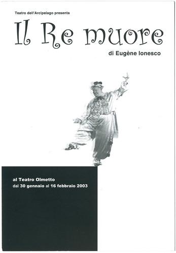 Teatro Olmetto (Milano. 2003). Il Re muore, de Eugène Ionesco; dir. Yosuke Taki (Teatro dell'Arcipelago)