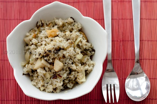 Olive vegetable fried rice