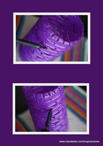 Manualidades: Lámparas con botellas recicladas.