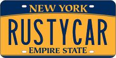 rustycar plate