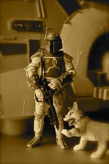 Vintage Family Fett (skipthefrogman) Tags: dog fun toy star wolf action hound joe mando armor figure boba wars pup custom gi sucka fett mandalorian scrawny skipthefrogman nojango