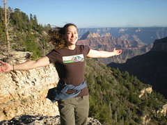 Climbergirl Taking in Grand Canyon View