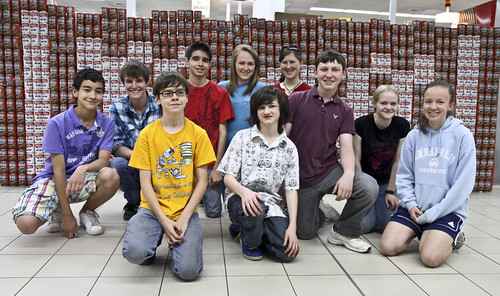 Wiesbaden students build Corps castle for Tin Can Construction project