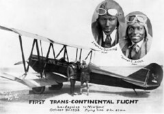 Souvenir photo showing the first African-American pilots to complete a New York to L.A. flight -- J. Herman Banning and Thomas C. Allen, October 1932 (La Guardia and Wagner Archives) Tags: aviation laguardia fiorellolaguardia fiorello thomasallen thelittleflower mayorlaguardia hermanbanning