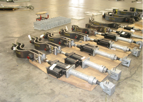 25,000 lb. Load Hydraulic Shock Suppressor and Clamp Assemblies