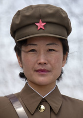 Mount Paektu guide with red star cap - North Korea (Eric Lafforgue) Tags: woman cute girl beauty soldier army war asia korea cap asie guide coree northkorea redstar dprk coreadelnorte paektu nordkorea 8661    coreadelnord  etoilerouge  insidenorthkorea  rpdc  kimjongun redsatr coreiadonorte