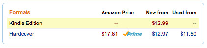 Harper Collins Kindle Prices vs Print