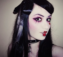 Wendy Time (Nikolina M.) Tags: portrait dark doll creepy spooky redlips thecure redlipstick macabre portret blackhair avantgarde livingdoll nikolina emilieautumn dollmakeup emilieautumnmakeup dollsession emilieautumninspired dollinspired