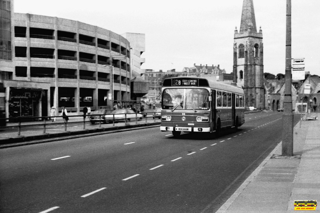 PCT Leyland National 66 - Ply., Exeter St - 07-1977