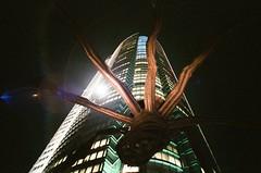 Roppongi Hills, Tokyo (ChihPing) Tags: travel black art film japan night tokyo spider spring asia fuji natura hills  sakura fujifilm roppongi   iso1600   fujicolor f19 natura1600    naturablackf19