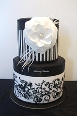 hat box (Deliciously Decadent (Taya)) Tags: birthday wedding white black flower hat cake fauna vintage print pattern crystal box stripes pearl flaura decadent damask deliciously