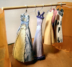 Dresses on rod made from paper by Carol Jones http://community.webshots.com/user/aqualus