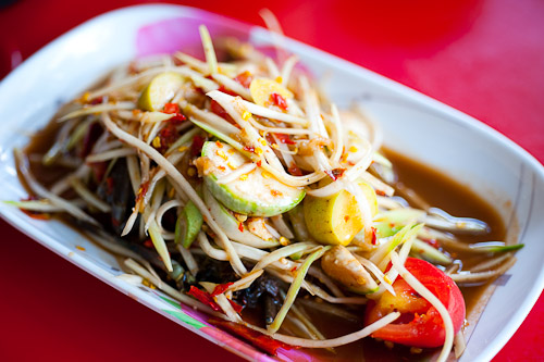 Som tam lao, Lao-style papaya salad at Jay So, a northeastern Thai restaurant in Bangkok