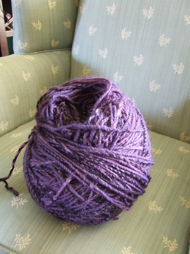 Purple Handspun - final dye