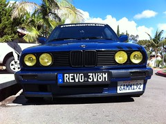 Dumped (SpencerBerke) Tags: california light yellow french lights san 1988 diego headlights motors bmw 325 symbolic e30 beemer smilies bimmer frenched smilys