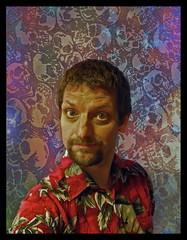 02/11/2010 (Day 4.306) - Day Of The Dead (Kaptain Kobold) Tags: red selfportrait texture alan shirt dead skulls armslength celebration hawaiian 365 selfie kaptainkobold trp diadelosmuertes 365days yourfave p365 365year4 day4306