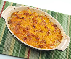 Sweet Potato, Apple, and Caramelized Onion Gratin
