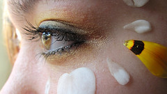 Nothing in the past or future (SMF.29) Tags: flower macro eye eyes bright makeup