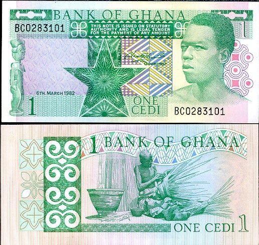 1 Cedi Ghana 1982, P18d