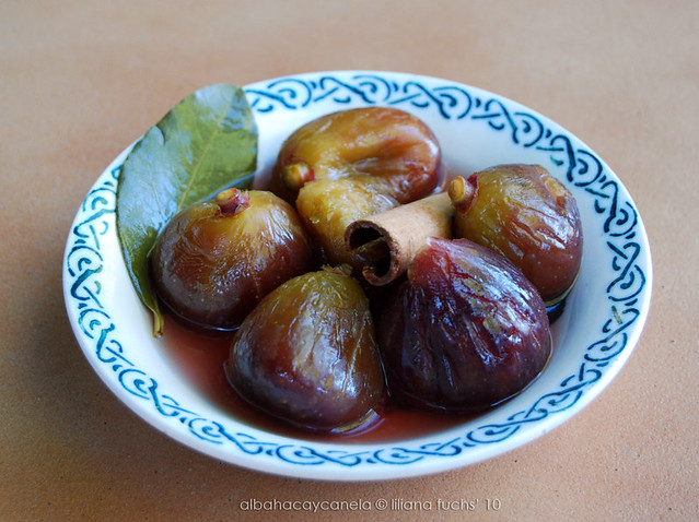 Poached spiced figs