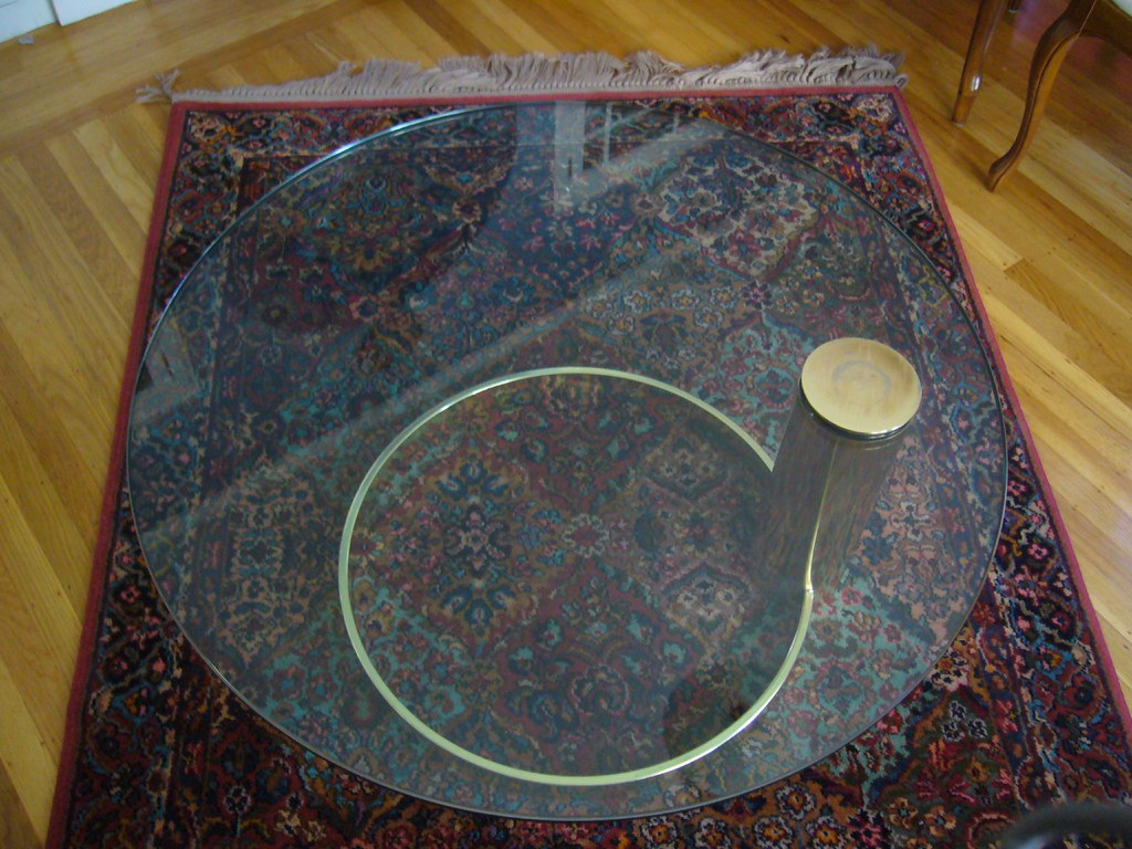 Glass Coffee Table - $90