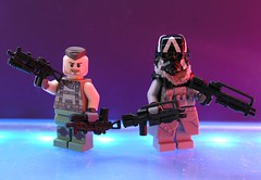 New Weapons !! (ORRANGE.) Tags: lego hazel sev weapons orrange helghast killzone decaals