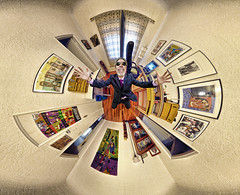 My 1,000th FLICKR Photo (BongoInc) Tags: panorama newmexico art sunglasses computer happy office desk bookshelf shades fisheye posters beatles lascruces tapestry toolbox wallhanging robertjohnson 360degree ptgui flexify antiquesroadshow joelovano shiratijazz bengabeat