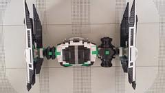 Jabba the Hutt's TIE Fighter - Aerial (Evilkirk) Tags: starwars lego jabba hutt tie fighter moc