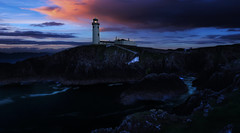The Lighthouse (whidom88) Tags: lighthouse fanad donegal ireland blue hour