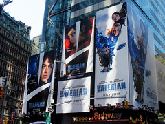 Valerian and the City of a Thousand Planets Billboard Poster 8176 (Brechtbug) Tags: valerian city thousand planets billboard poster times square nyc 2017 french science fiction comics series from 1967 valérian laureline written by pierre christin illustrated jeanclaude mézières film movie directed luc besson new york 07012017