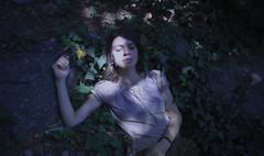 (nazoznar) Tags: leaves nature outdoor sleep sleepy dreamer calm forest girl woods leafs portrait