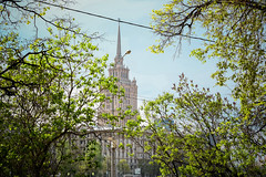 fgh5y5ydhd (olegmescheryakov) Tags: moskva moskau russland park sky landscape sunrise morning city street nature travel clouds sunshine tower old urban architecture tree cityscape summer building branch leaf season wood sight town skyline outdoors environment build no person fair weather