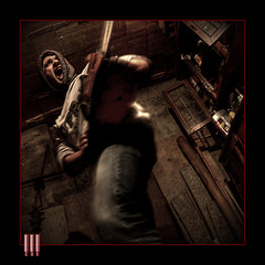Chainsaw #01 (il COE) Tags: photoshop canon dark lights shadows darkness decay ombra chainsaw fisheye abandon horror terror 16mm abandonment hdr coe decadence buio orrore terrore abbandono oscurit decadenza photomatix motosega