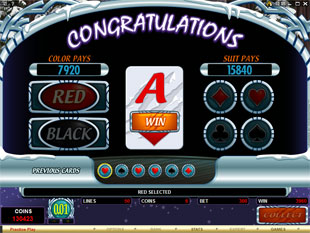 free Silver Fang gamble bonus game