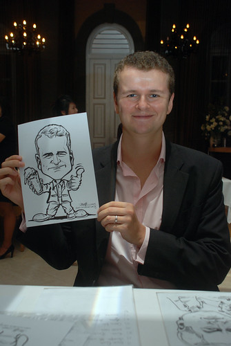 Caricature live sketching for AMEC Party - 8